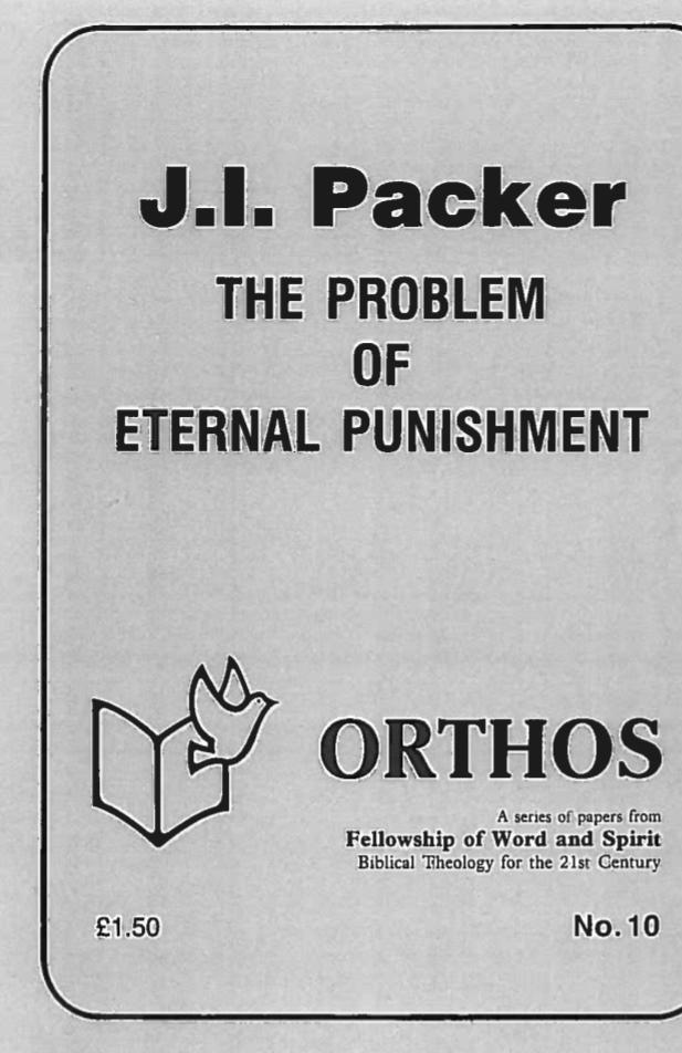 The Problem of Eternal Punishment, J. I. Packer